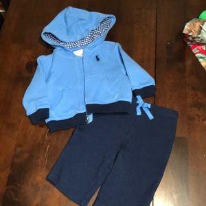NWOT. NEVER WORN. Ralph Lauren outfit size 3M